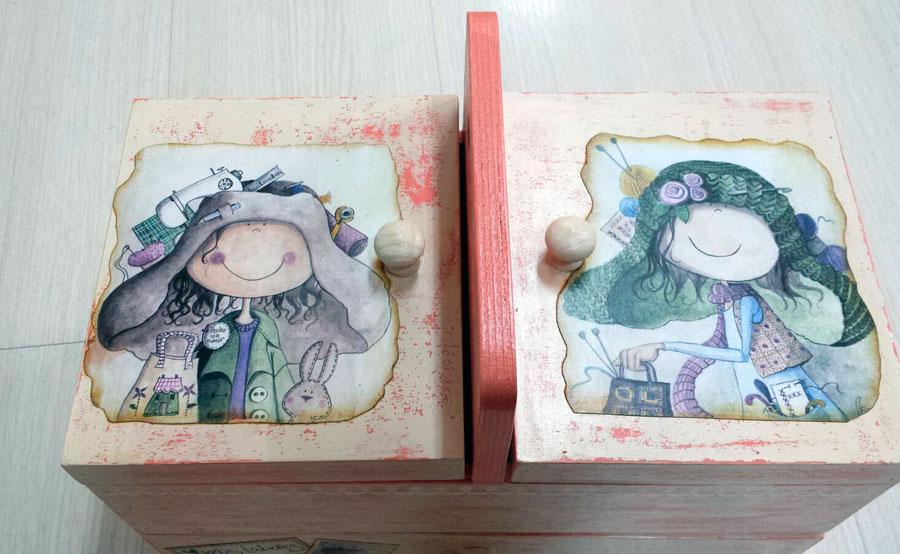 Cajas de madera decoradas con varias t cnicas hazlo t - Cajas madera para manualidades ...
