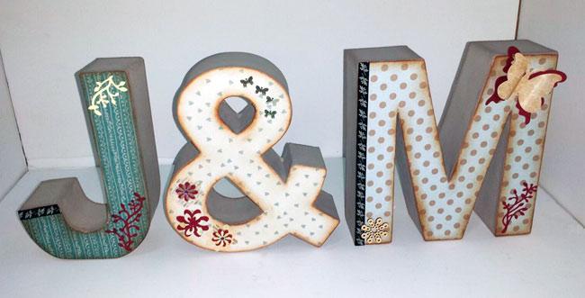 Hazlo tu manualidades barcelona letras de madera 11 hazlo t - Letras home decoracion ...