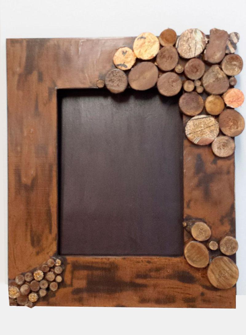 Hazlo t manualidades barcelona tecnicas sobre madera 1 - Marcos fotos madera ...