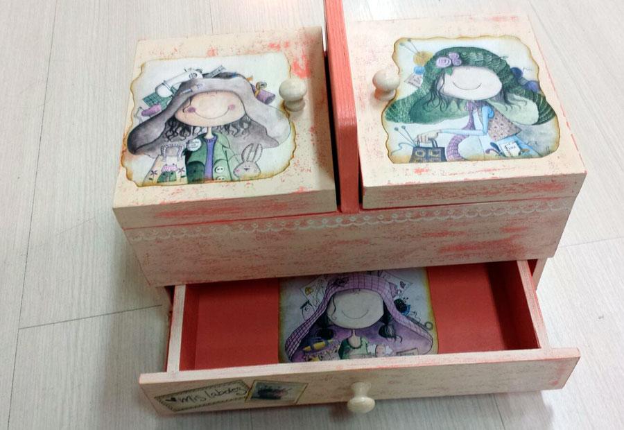 cajas de madera decoradas con varias tcnicas - Cajas De Madera Decoradas