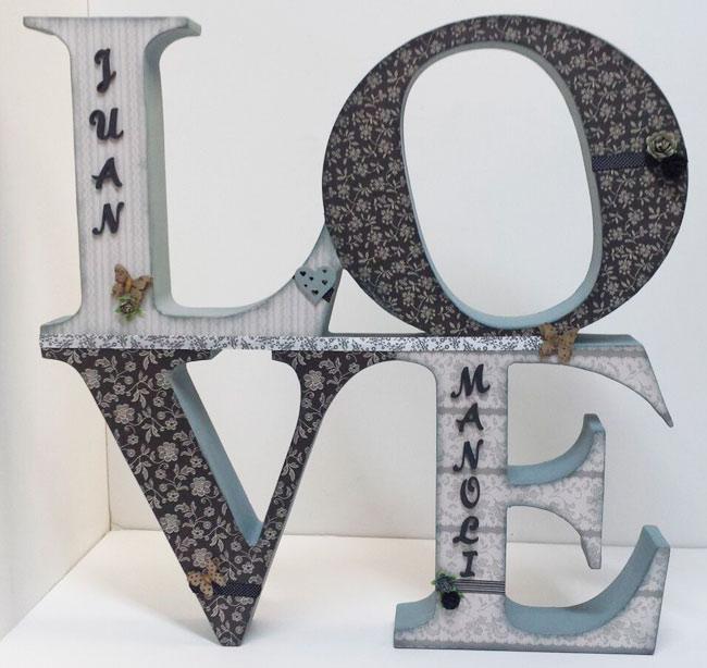 Lo ltimo en decoraci n letras de madera hazlo t - Letras de madera para decorar ...