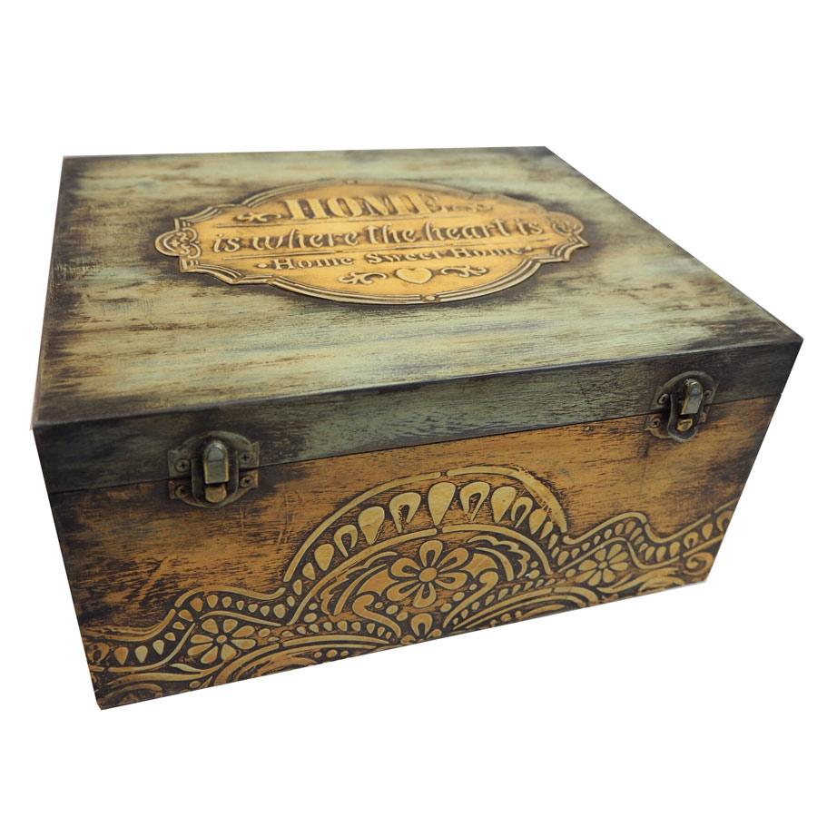 Caja madera decorada hazlo t - Manualidades cajas decoradas ...